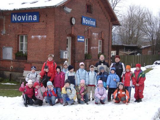 Školní družina pořádá několikrát do roka výlety.Kryštofovo údolí, listopad 2007